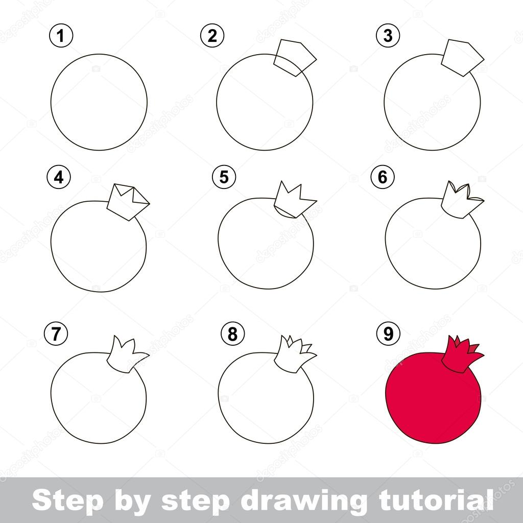 Drawing Tutorial How To Draw A Pomegranate
