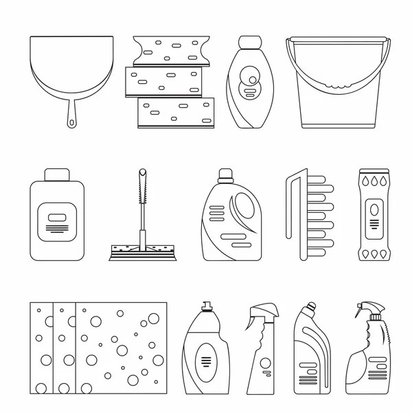 Outline seamless cleaning products and equipment