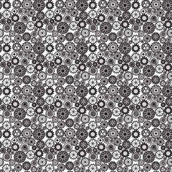 Black Gears Steampunk Seamless Pattern Stock Vector