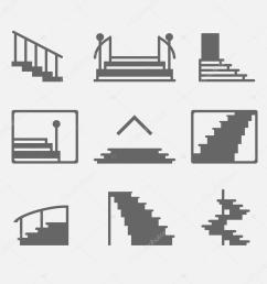different types of stairs or stairway icons vector set of logo elements or symbols vector by cvetoed [ 1024 x 1024 Pixel ]