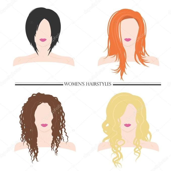 women's hairstyles. types of female hairstyles. — stock