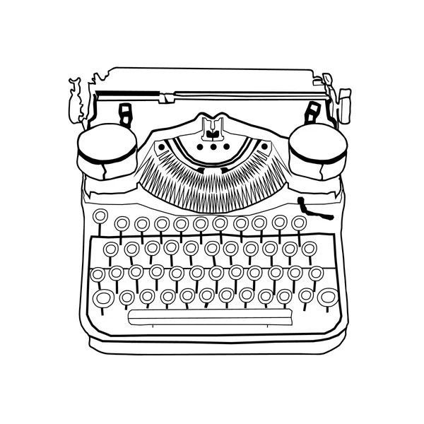 70s manual typewriter Vintage black and white with paper