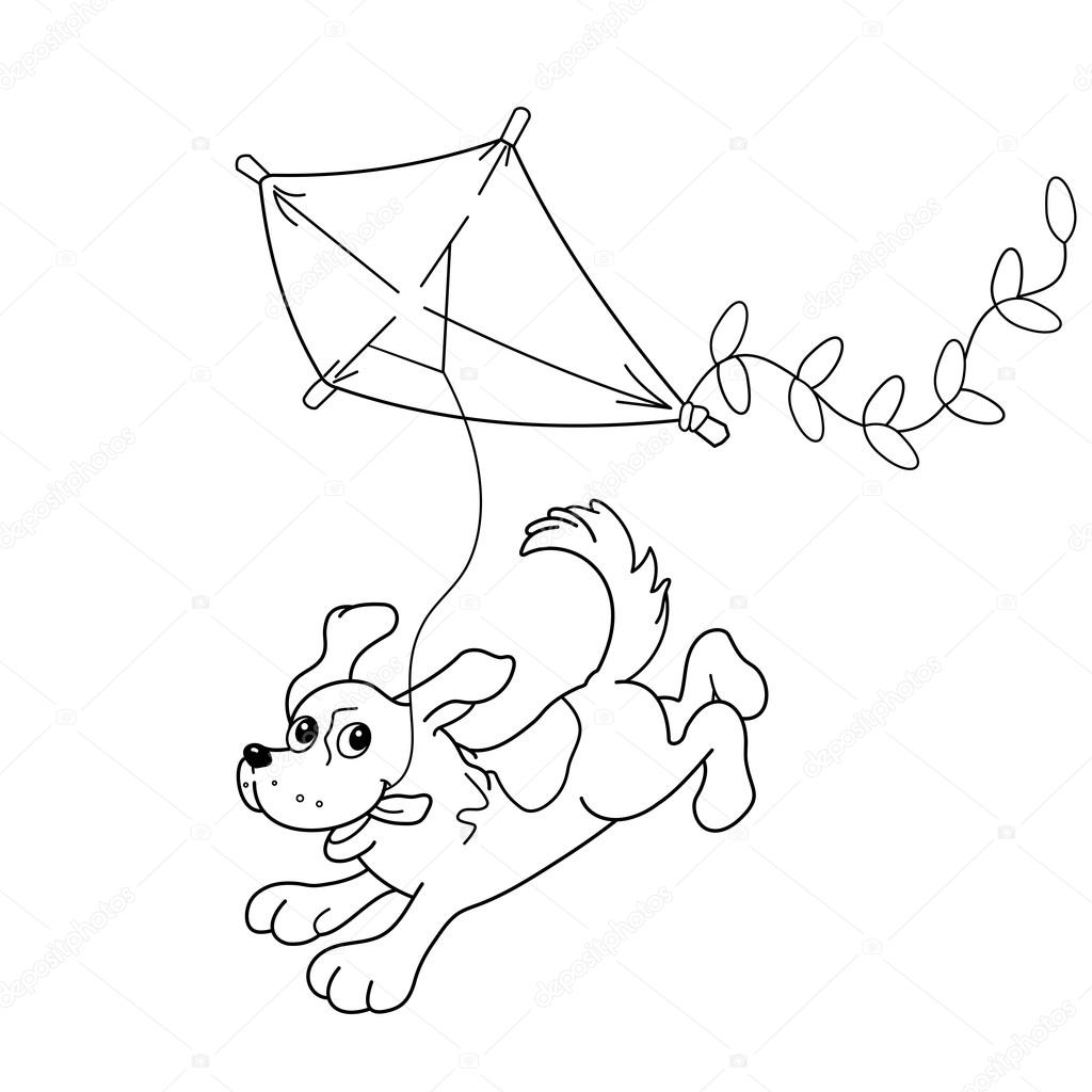 Kite Picture For Coloring