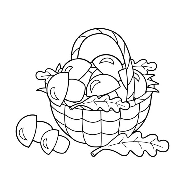 Coloring Page Outline Of cartoon mushrooms. Summer gifts