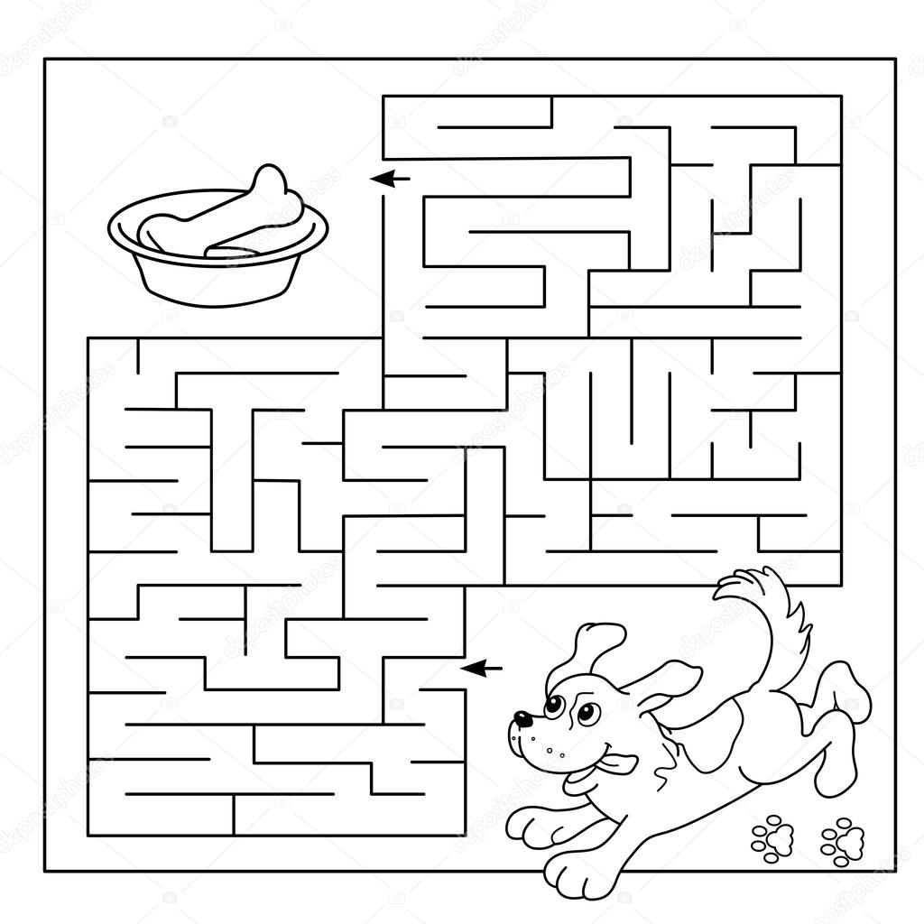 Cartoon Vector Illustration Of Education Maze Or Labyrinth Game For Preschool Children Puzzle