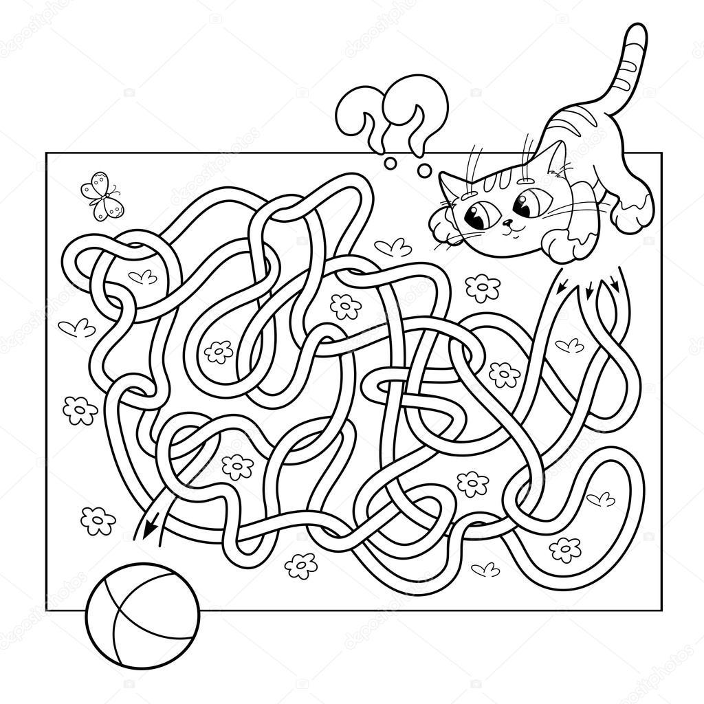 Cartoon Vector Illustration Of Education Maze Or Labyrinth