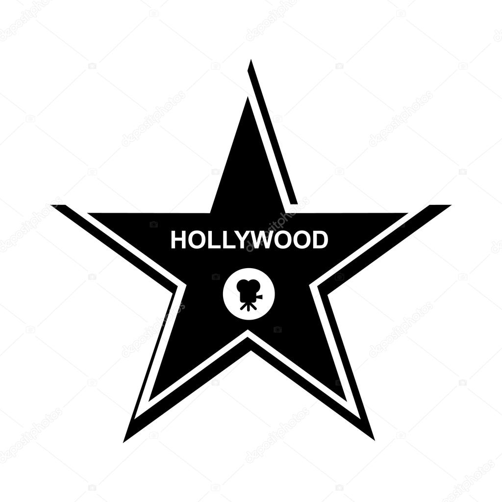 Icono Estrella Hollywood Estilo Simple