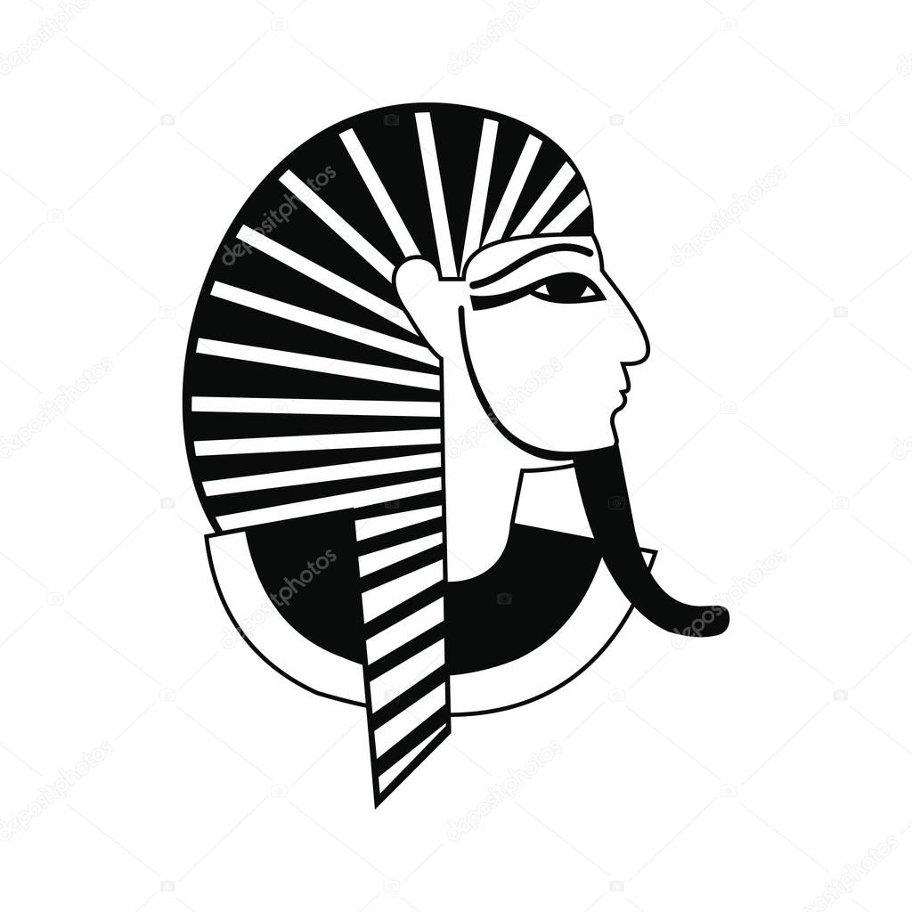 Egyptian Pharaoh Icon Simple Style