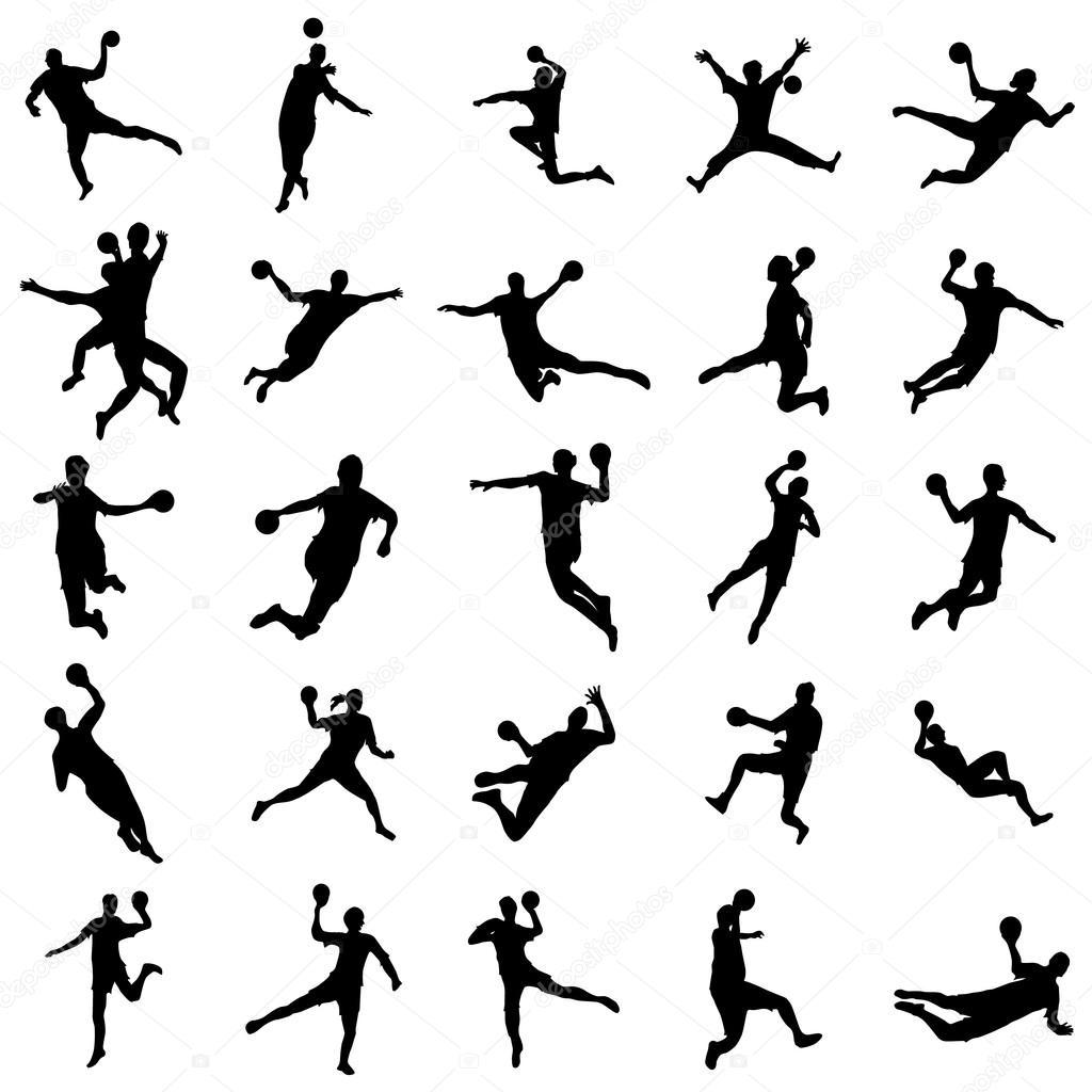 handballsilhouette gesetzt 102556740