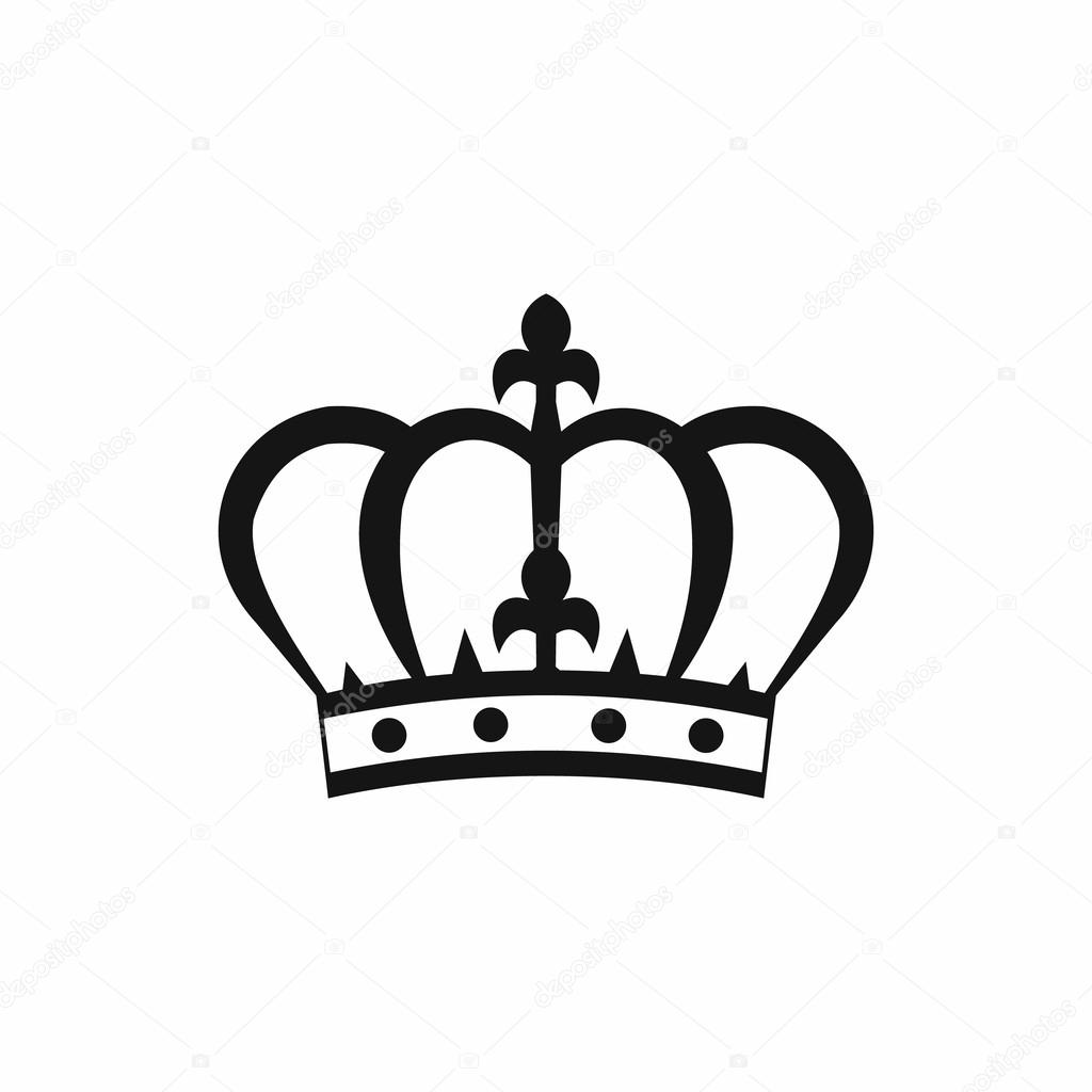 Crown Icon In Simple Style