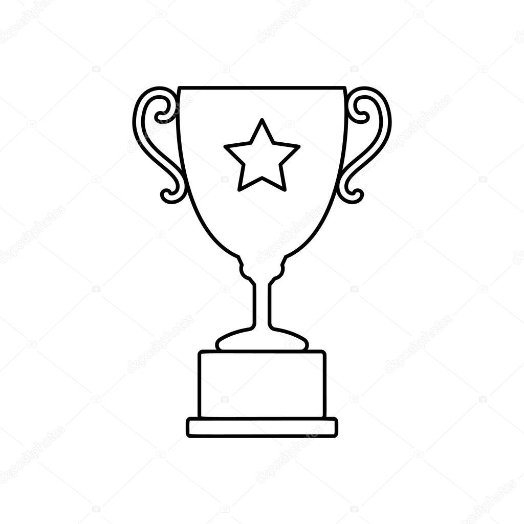 Trophy cup line icon — Stock Vector © juliarstudio #93390726