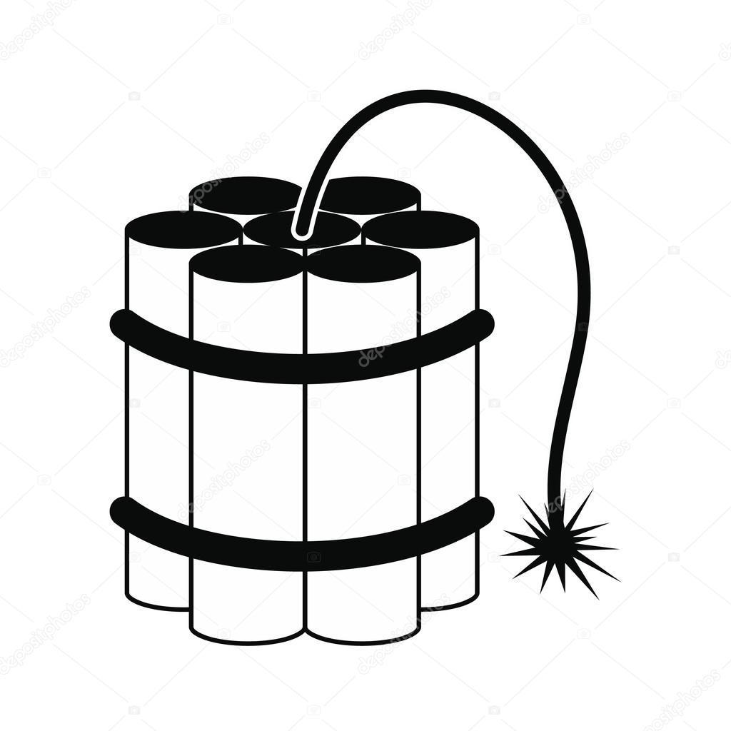 Palillos De Dinamita Icono Negro