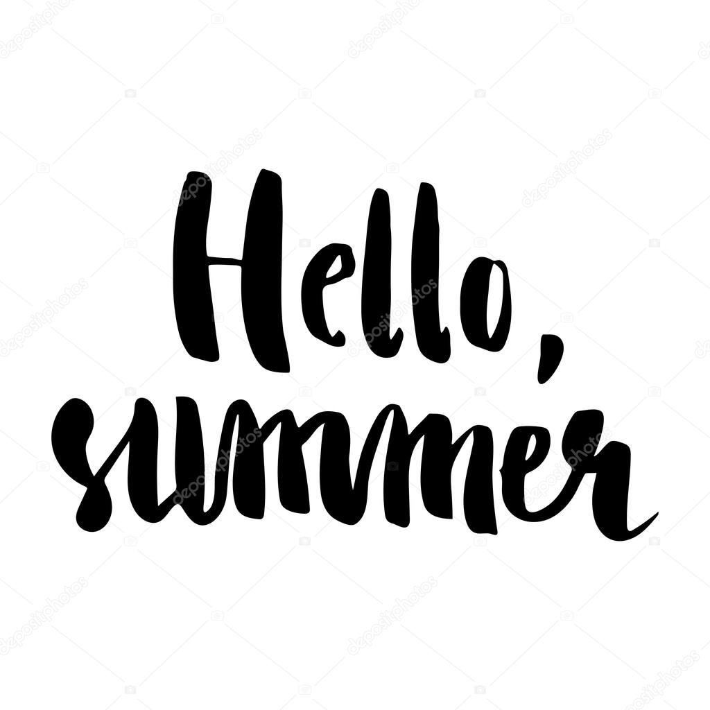 Hello Summer Brush Lettering