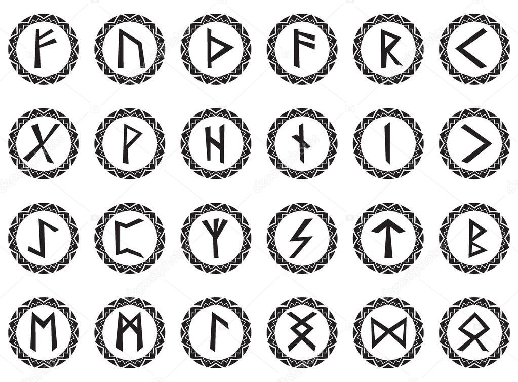 Set magic runes — Stock Vector © vaganti2015 #86963228