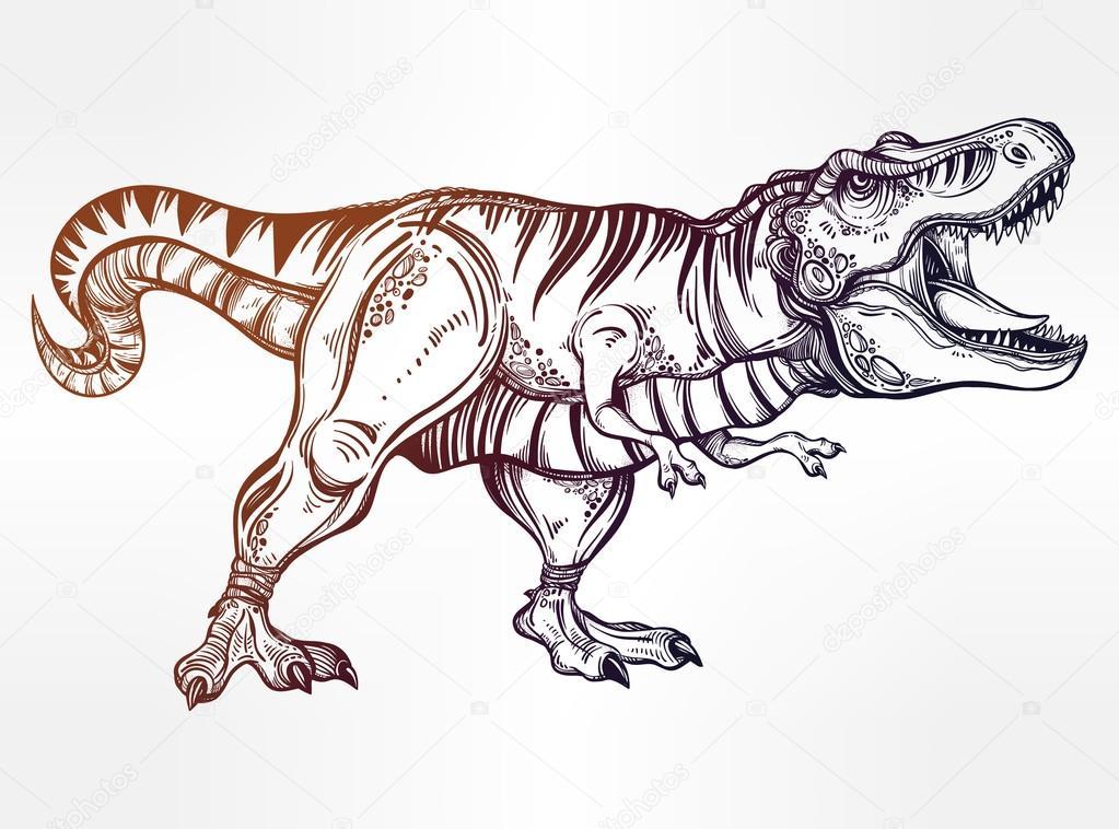 Excelente Dibujos Para Colorear Dinosaurios T Rex