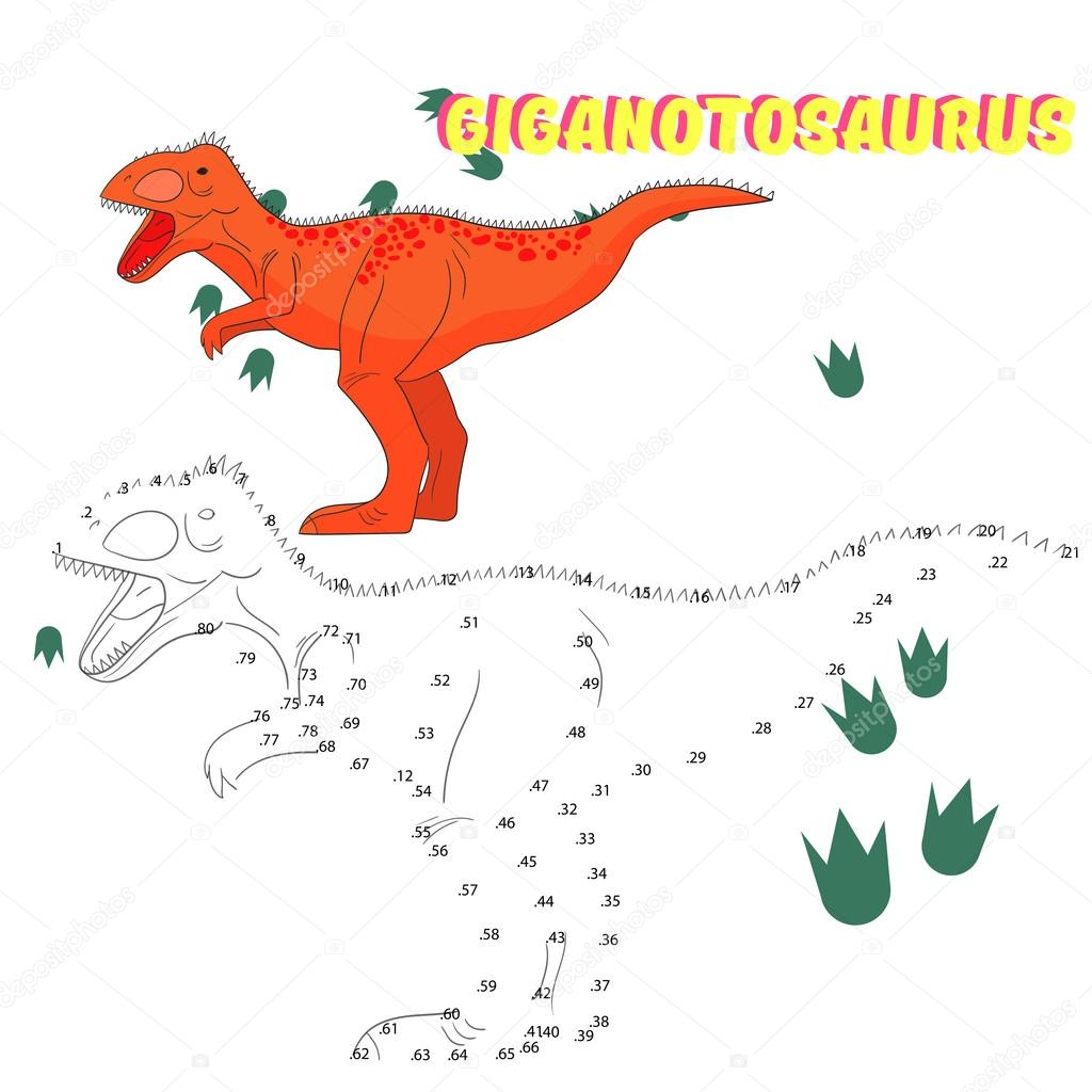 Jogo Educativo Ligar Pontos Para Desenhar O Dinossauro