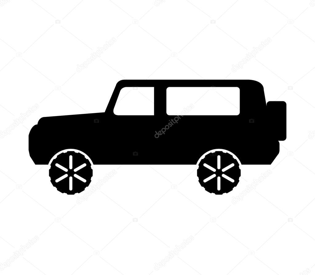 icon jeep on white