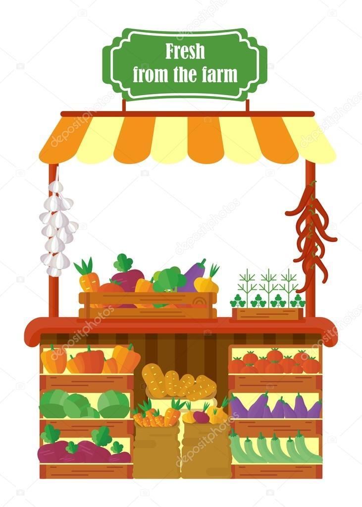 Cartoon Farmers Market : cartoon, farmers, market, Farmers, Market, Cartoon, Vector, Images,, Royalty-free, Vectors, Depositphotos®