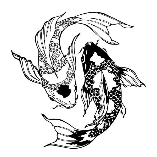 Hand Drawn Fish Symbols Royalty Free Stock Photo