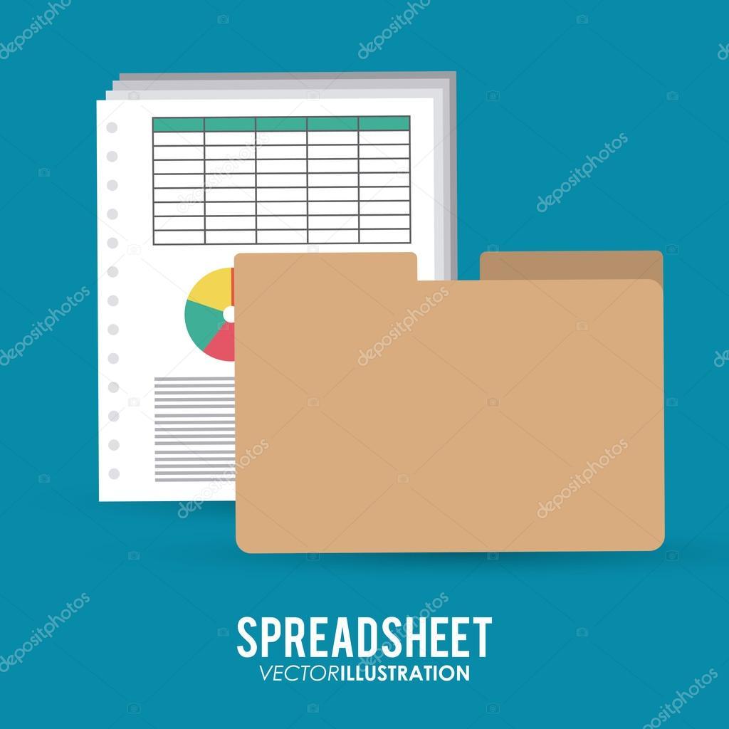Spreadsheet icon design — Stock Vector © jemastock #102343116