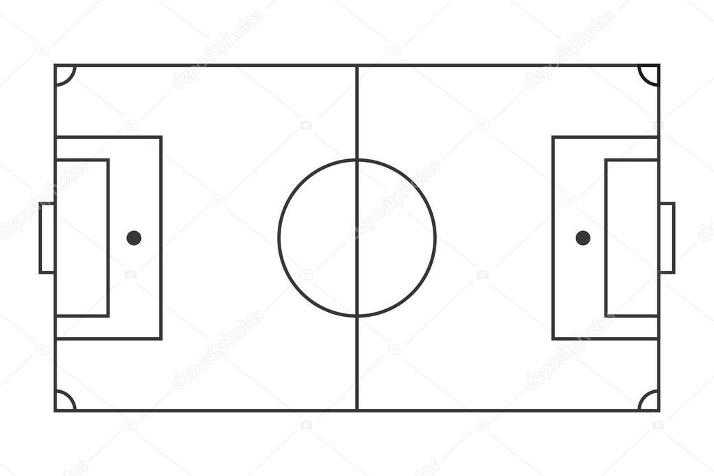 american football field diagram horizontal football field american