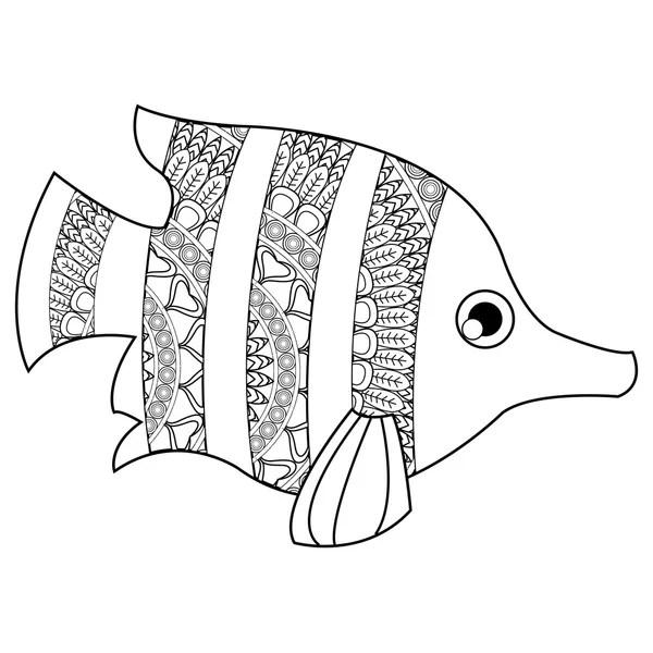 A trópusi halak színező — Stock Vektor © mariaflaya #88054876