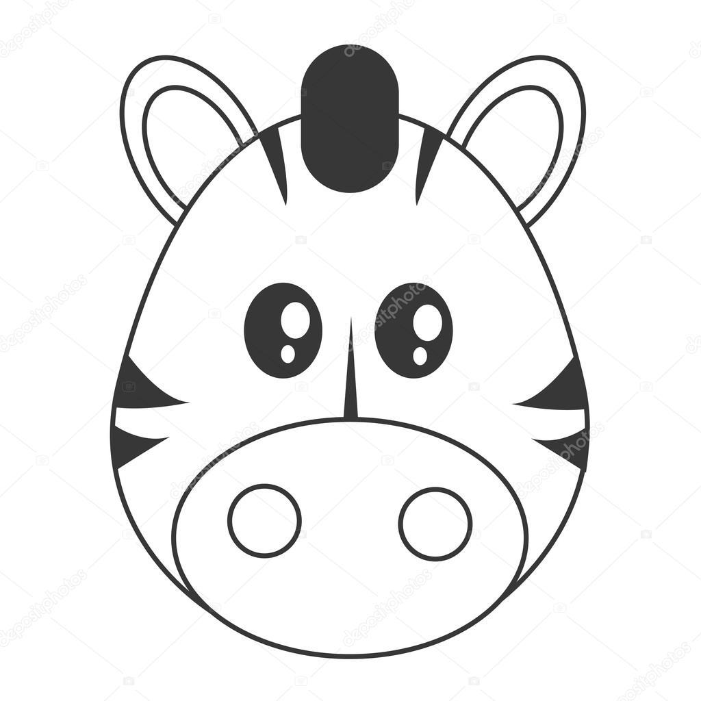 Icone De Zebra Bonito Dos Desenhos Animados
