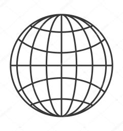 earth globe diagram icon stock vector [ 1024 x 1024 Pixel ]