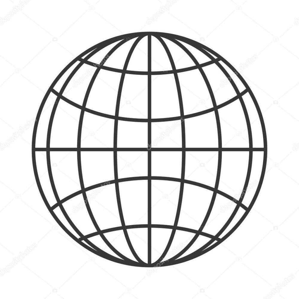 medium resolution of earth globe diagram icon stock vector