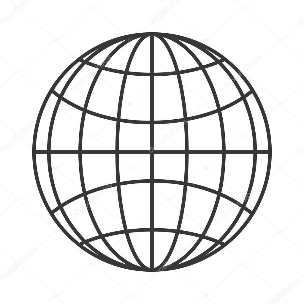 hight resolution of earth globe diagram icon stock vector