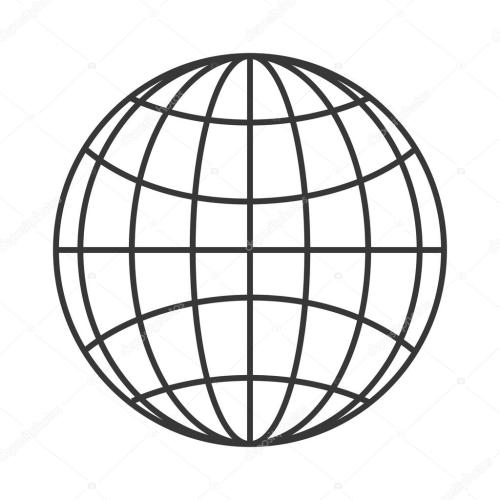 small resolution of earth globe diagram icon stock vector