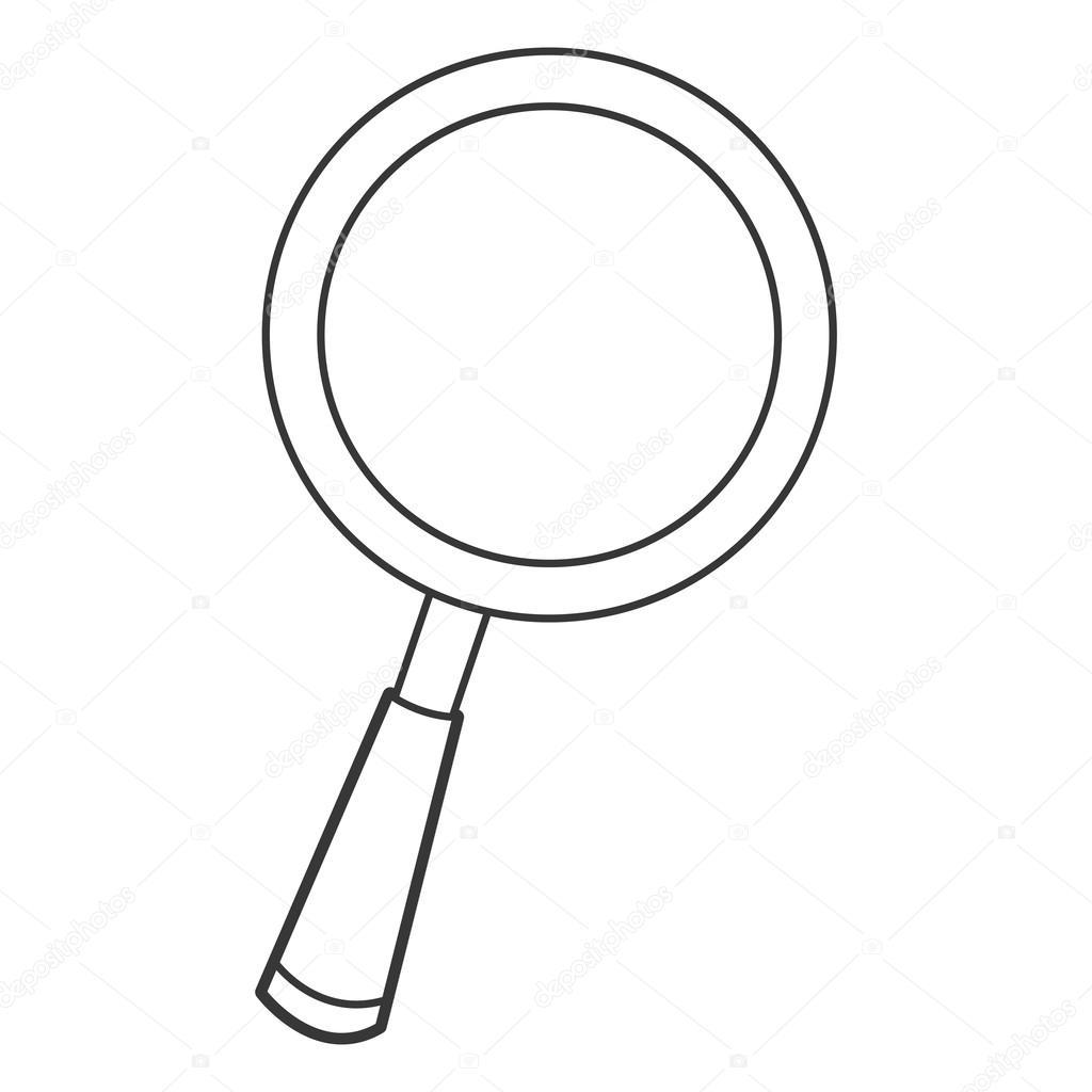Icone De Lupa De Desenhos Animados
