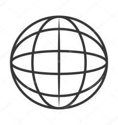 earth globe diagram icon stock vector [ 1024 x 1024 Pixel ]