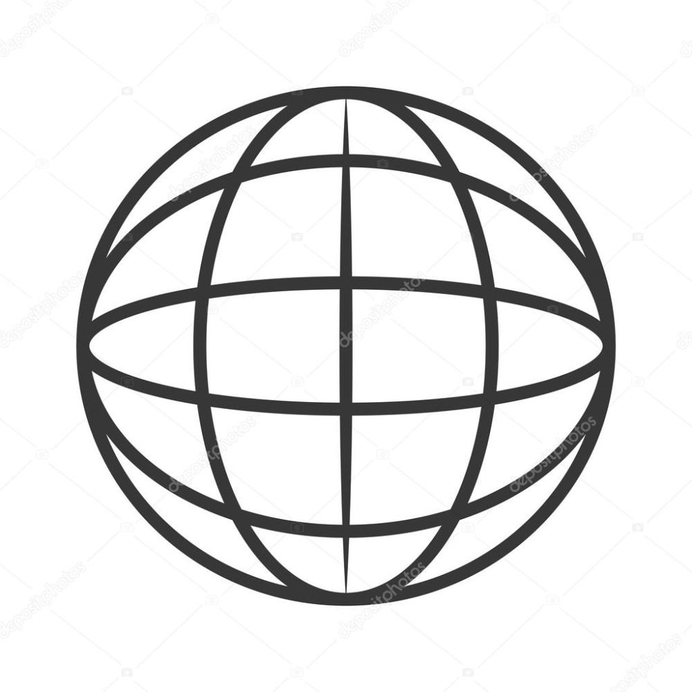 medium resolution of earth globe diagram icon stock vector