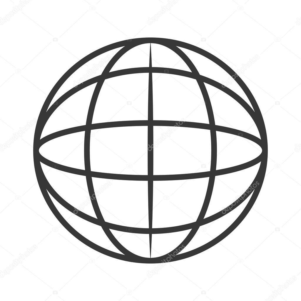 hight resolution of earth globe diagram icon stock vector