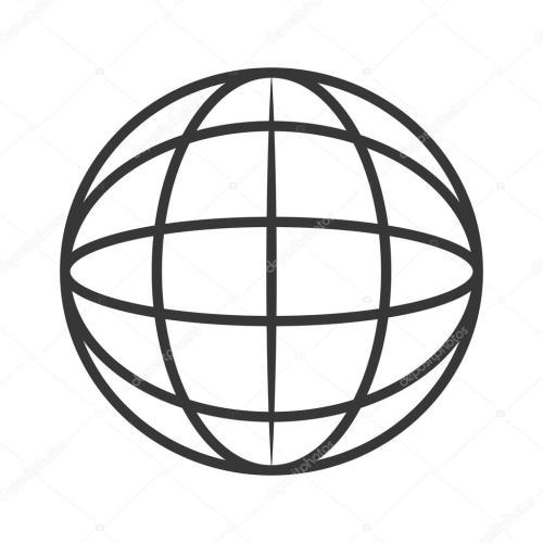 small resolution of earth globe diagram icon stock vector