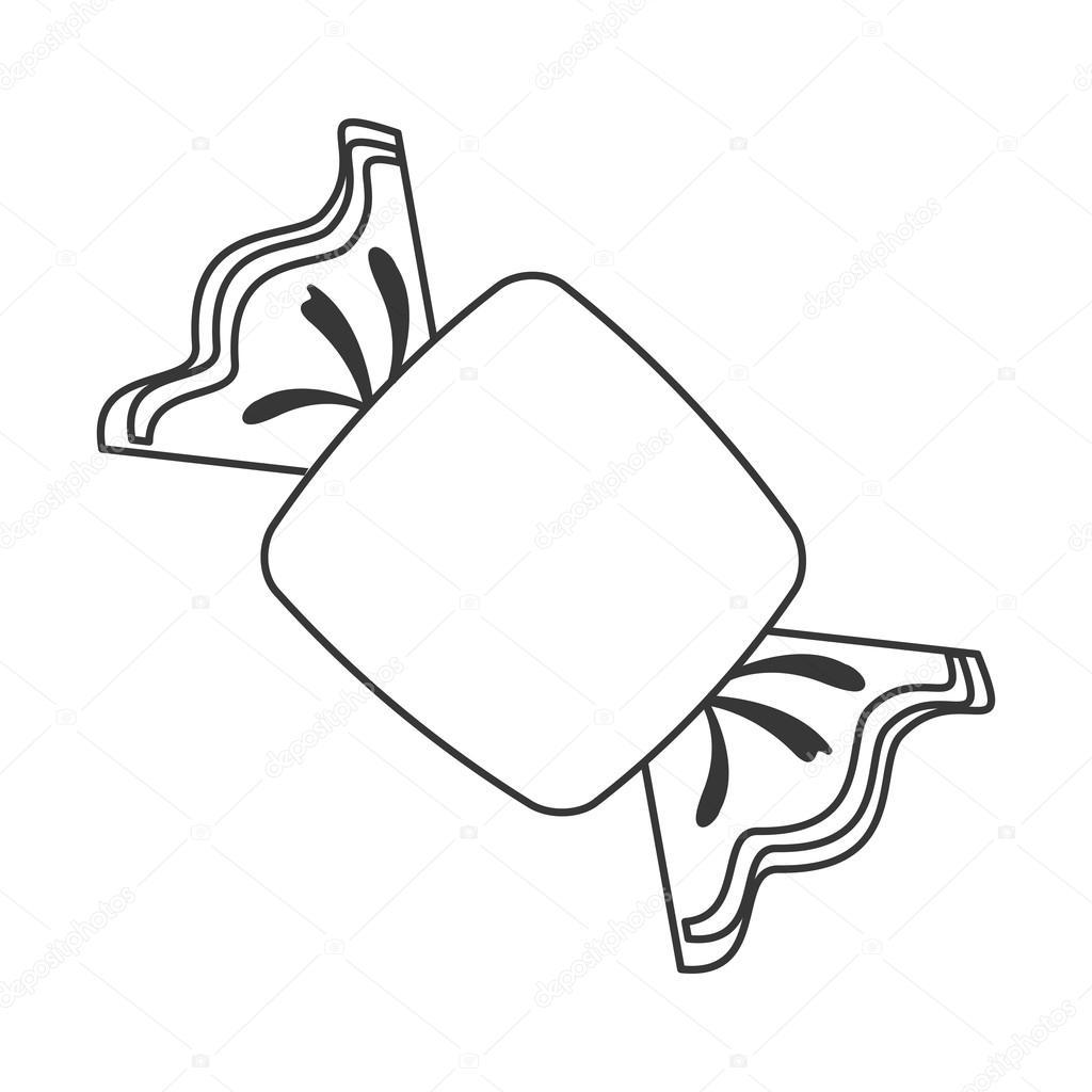 umschlossenen Bonbon-Symbol — Stockvektor © jemastock