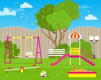 Colorful Children's playground  Stock Vector #108380404