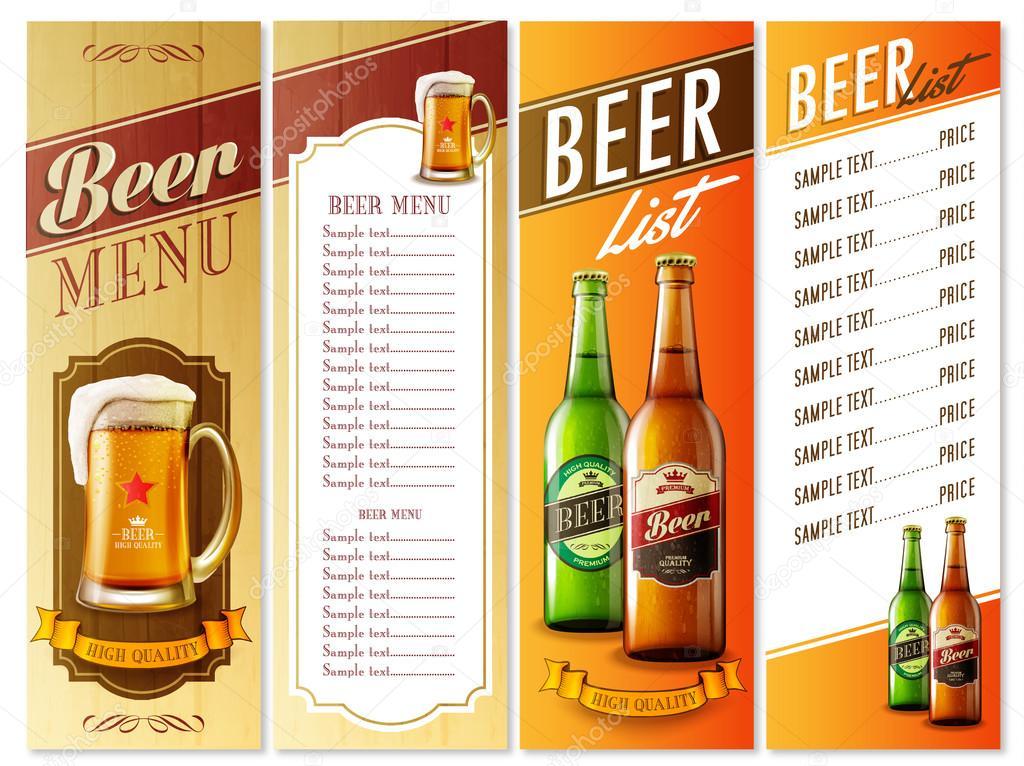 beer menu list — Stock Vector © mollicart #88396392