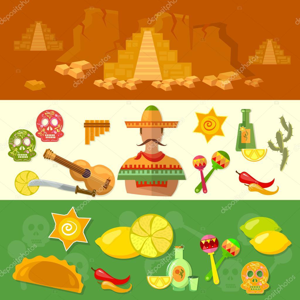 Banderas de Mxico cultura mexicana y comida  Archivo