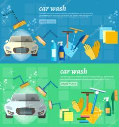 car wash banner clean car auto cleaner washer shower service vector illustration vector by  [ 1024 x 1024 Pixel ]