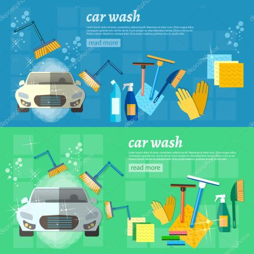 small resolution of car wash banner clean car auto cleaner washer shower service vector illustration vector by
