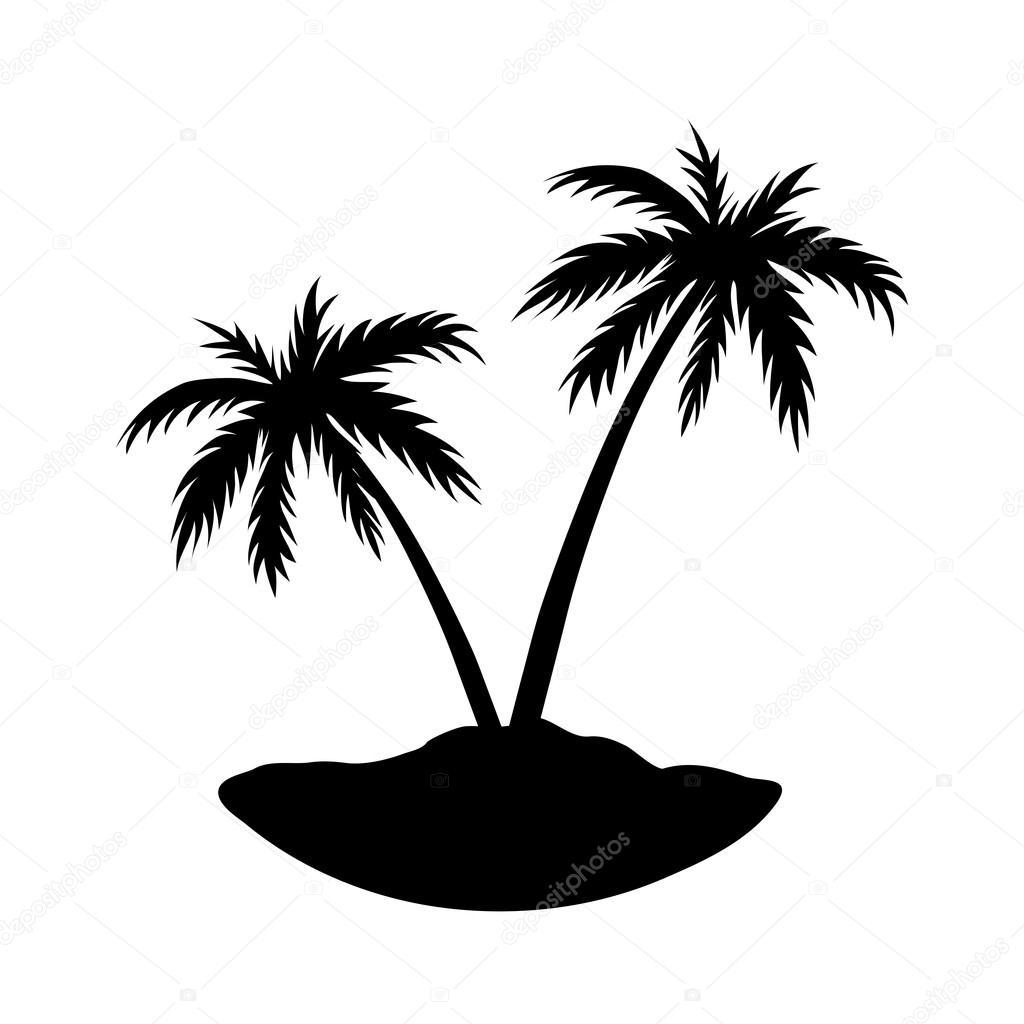 Zwei Palmen Insel