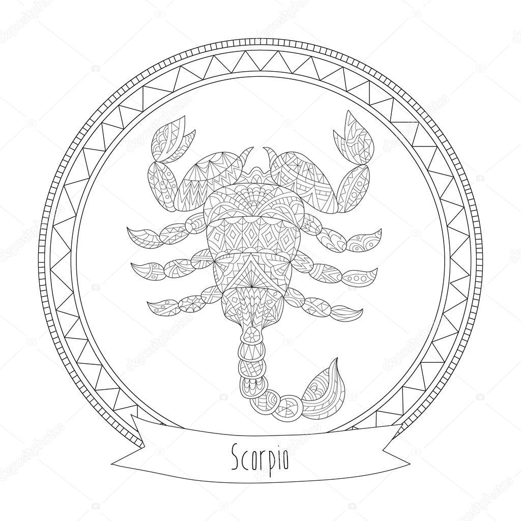 Scorpio Zodiac Coloring Pages