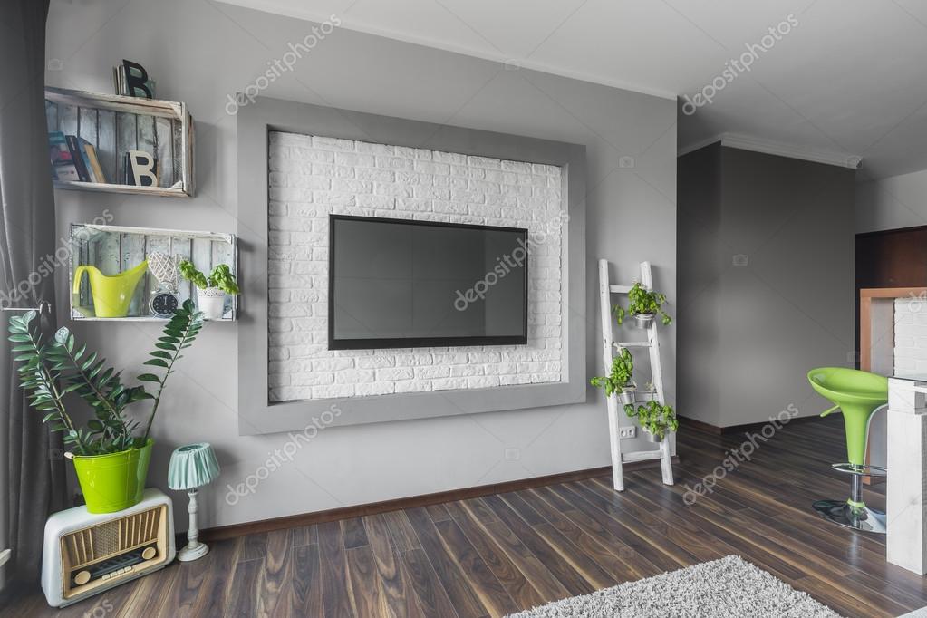 Soggiorno con tv grande  Foto Stock  in4mal 116578198