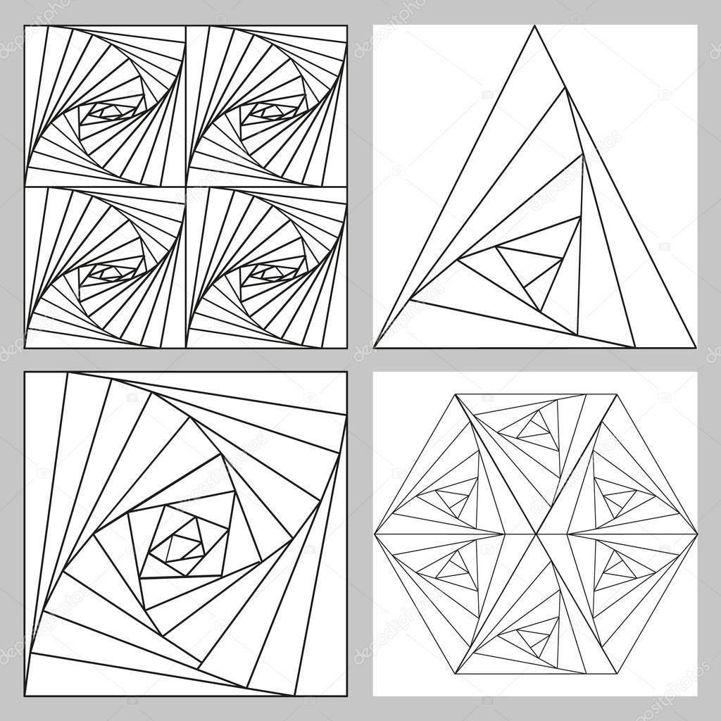 Geometric Vector Illustration Triangles Squares And