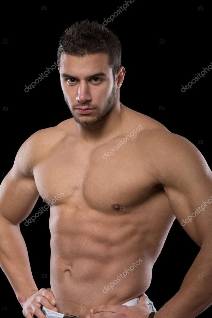 Handsome muscular men  Stock Photo  SerbBgd 91029714
