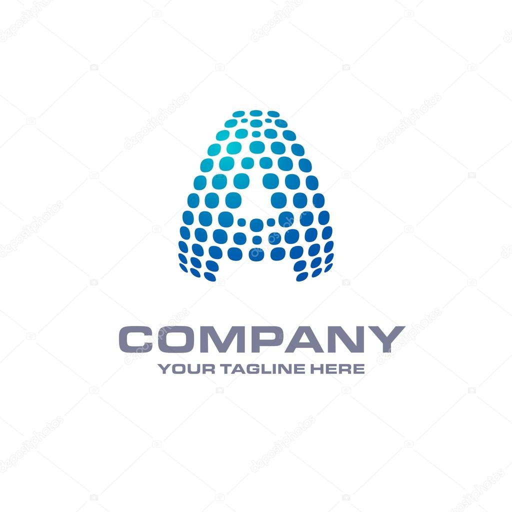 hight resolution of letter a logo stock vector