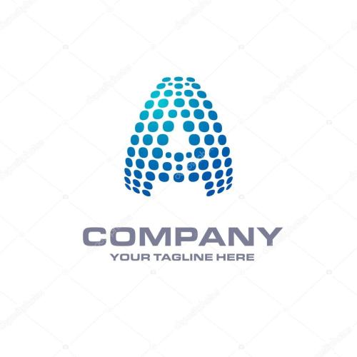 small resolution of letter a logo stock vector
