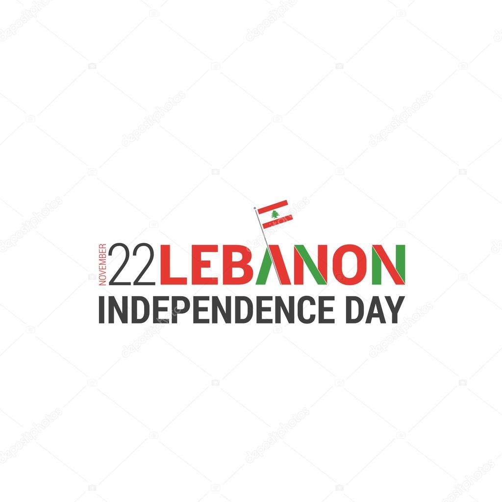 Lebanese Independence Day — Stock Vector © ibrandify #93970258